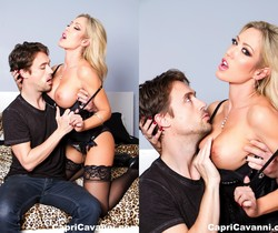 Capri Cavanni seduces a lucky man in a cheesy motel room