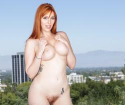 Lauren Phillips - Busty Redhead's Rack Sperm-Slopped