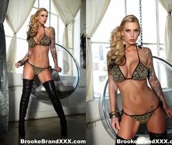 Hot babe Brooke gets nude - Brooke Banner