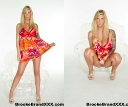 Busty Brooke in her flower dress - Brooke Banner