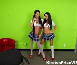 Kirsten Price Double Blowjob fun
