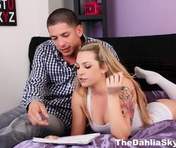 Naughty bedroom fun with slut Dahlia Sky