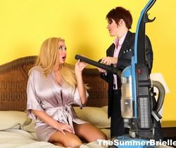 Summer bangs sexy salesman Lily - Summer Brielle