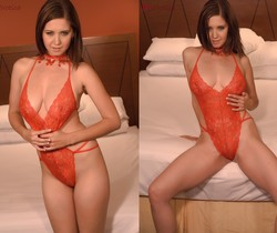 Chrissy Marie - Chrissy In Red Lingerie