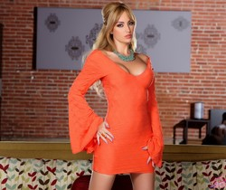Angela Sommers - Orange Dress Strip & Spread