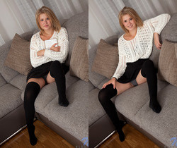 Elza A - shy blonde teen strip session