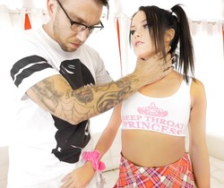 Megan Rain - Enema Leads To Manhandling Sodomy - Evil Angel