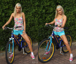 Bridget Brooke - Nude Cyclist - ALS Scan