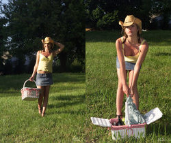 Nadia Taylor - Cowgirl Picnic - ALS Scan