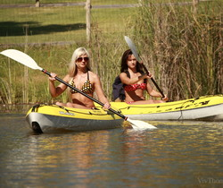 Tess A, Tracy Lindsay - Canoe Adventure - Viv Thomas