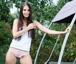 Vanessa Angel - Backyard Chilling - MetArt X