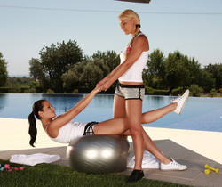 Lana S, Nicole Smith - Lesbian Workout - Lana & Nicole