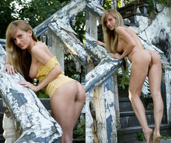 Gisele A - On The Stairs - Erotic Beauty