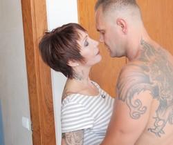 Catalya Mia - Tattooed MILF's Anal Wakeup Call - Evil Angel