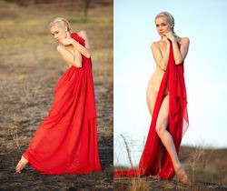 Aljena A - Red Cape 1 - Erotic Beauty