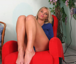 Ines tits vibrate on massage chair - Ines Cudna