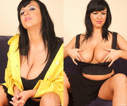 Kora Krak masturbates in Yellow dress - My Boobs
