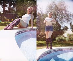 Lyla Ashby - Poolside Prettiness - More Than Nylons