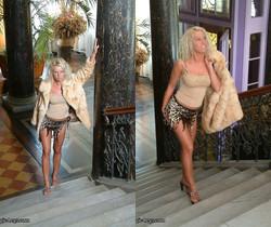Daria long legs on stairs - Magic Legs