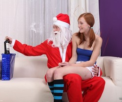 We Like To Suck - Linda works on Santa's big cock