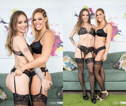 Natasha and Val Dodds Match in Their Black Lingerie