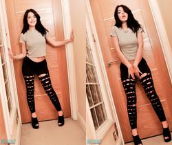 Ava Dalush - Ava Black Leggings - Skin Tight Glamour