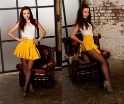 Sophia Smith - Yellow Skirt - Sophia's Sexy Legwear