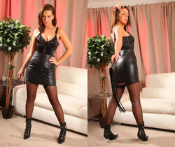 Holly A Leather Skirt - Strictly Glamour