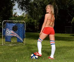 Charlie Lynn - Soccer Slut In Socks - Leg Sex