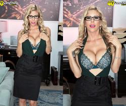 Alexis Fawx, busty secretary - 40 Something Mag