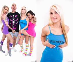 DD Ventura, Hailey Holiday & Aimee Black - Immoral Live