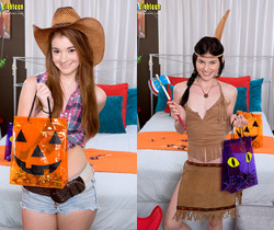 Ava Sparxxx, Heather Night - Halloween Hoochies