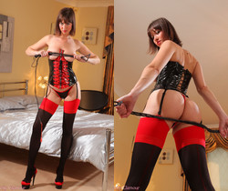 Carol - C Red Basque - Strictly Glamour