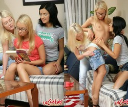 Horny Lesbian Threesome with Alisa and Deja and Kianna
