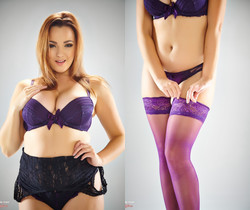Jodie Gasson - Prancing In Purple - More Than Nylons