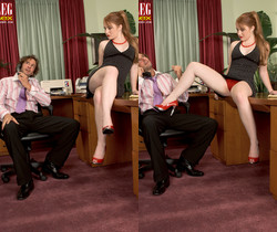 Lucy Fire - Frisky Feet - Leg Sex