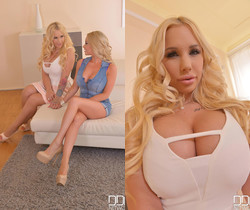 Busty Housewives Home Alone: Dildo Fun in The Livingroom!