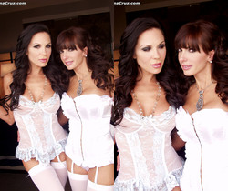 Catalina Cruz with Kirsten Price lesbian lingerie party