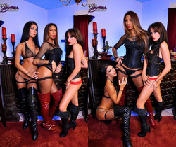 Red Strapon - Jessica Jaymes, Randi Wright, Kayla Carrera