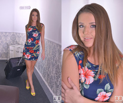 Horny in the Hallway - Newcomer Plays With Pocket Rocket