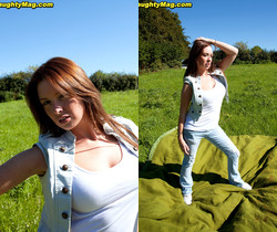 Kirsty - Bush at a Picnic - Naughty Mag
