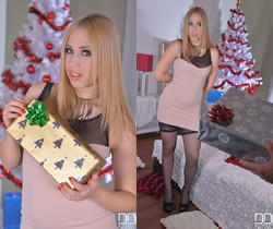 Merry Fuckmas - Cramming A Blonde's Wet Pussy Doggy Style