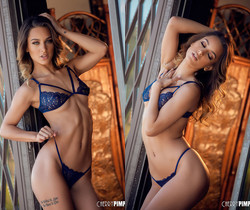 Uma Jolie Shows Off Her Tight Lean Body in Lingerie