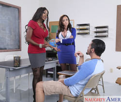 Ariella Ferrera & Diamond Jackson - My First Sex Teacher