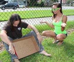 Sasha Foxxx - Helping The Homeless - Teen Tugs