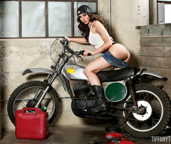 Tiffany Tyler in Motorcycle Playtime