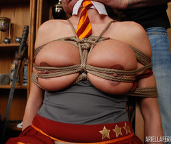 Ariella Ferrera in Tied Up Cocksucker