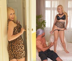 Massive Cans & Hairy Pussy: Blonde Babe Crammed By Big Cock