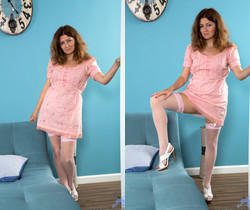 Helena Volga - Thigh High Stockings - Anilos