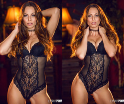 Aidra Fox Is Incredibly Sexy In Her Black Lingerie